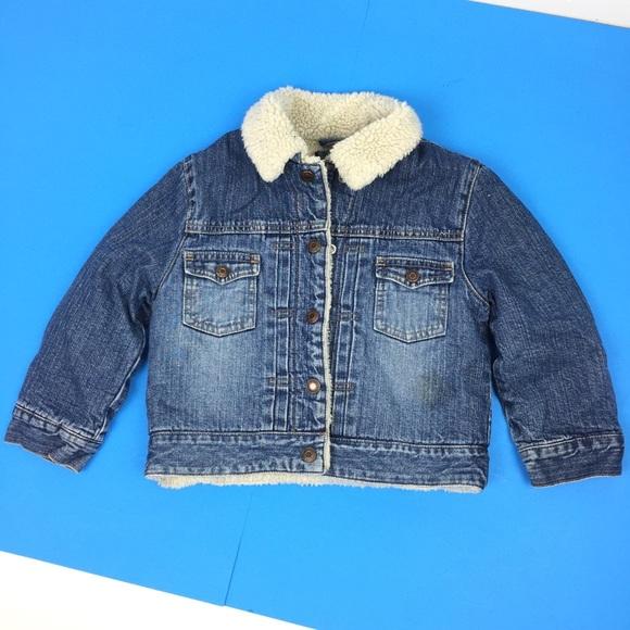 c3bebe22e95 GAP Jackets & Coats   Toddler Boy Sherpa Lined Denim Jean Jacket ...